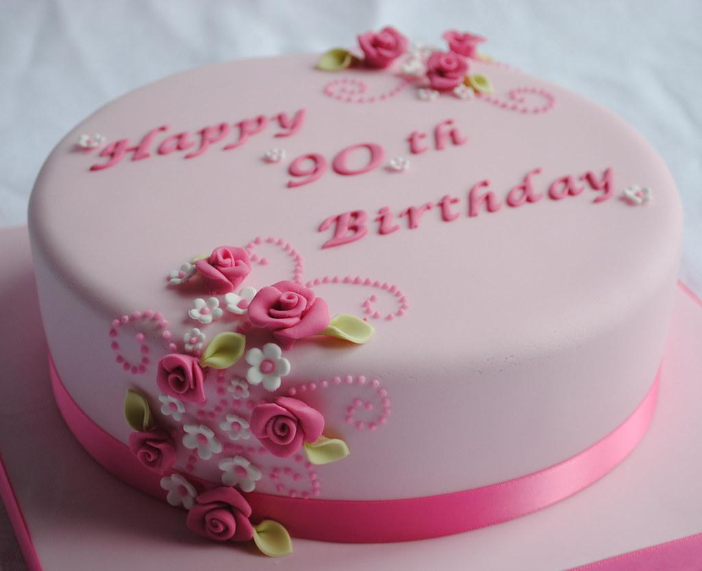 Phenomenal 90Th Birthday Cake Thecustomcakeshop Co Uk Faceboo Flickr Funny Birthday Cards Online Elaedamsfinfo