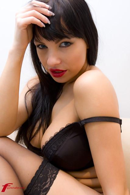 Marta Zawadzka black lingerie safe