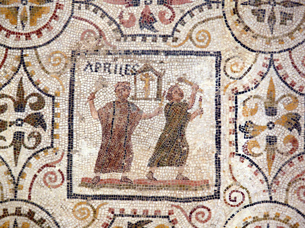 Image result for April panel from a Roman mosaic of the months