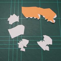 วิธีทำโมเดลกระดาษตุ้กตา คุกกี้รสราชินีสเก็ตลีลา จากเกมส์คุกกี้รัน (LINE Cookie Run Skating Queen Cookie Papercraft Model) 021