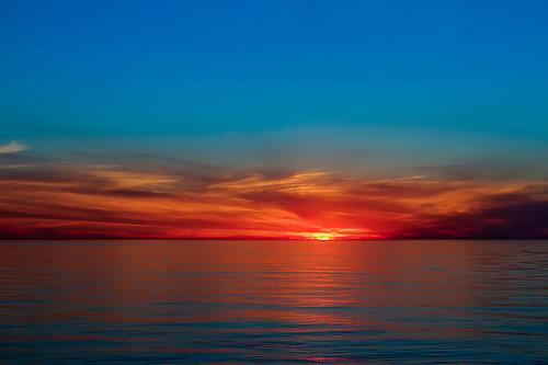 sunset lakeontario hdr websterny websterpark