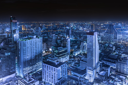 town darkness lightup cityscape landscape a7ii sony view rooftop bangkok thailand outdoor night nightview