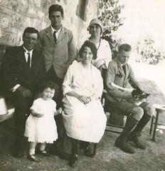 Basil Payne, Mrs Bevan, T Price, Mrs Price M.L.W. Bevan front Erica Price