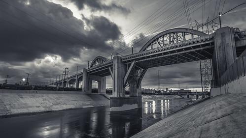 sunrise losangeles 1022mm dtla losangelesriver lariver downtownlosangeles 6thstbridge canon7d ©shabdrophoto