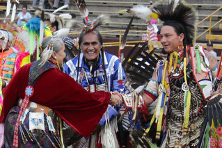 powwow: friendly handshake | by woodleywonderworks