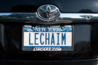 Barbara's License Plate: Lechaim (To Life!) | by goingslowly