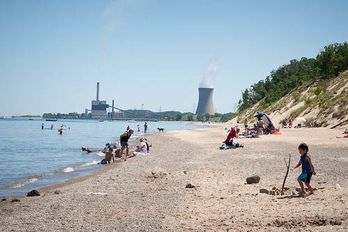 Indiana Dunes Beach (with Nuclear Power Plant!) | by goingslowly