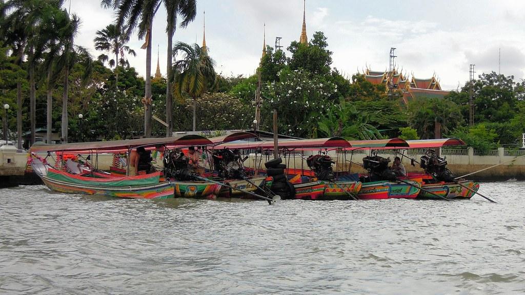 Longtail boats, Chao Phraya River, Bangkok