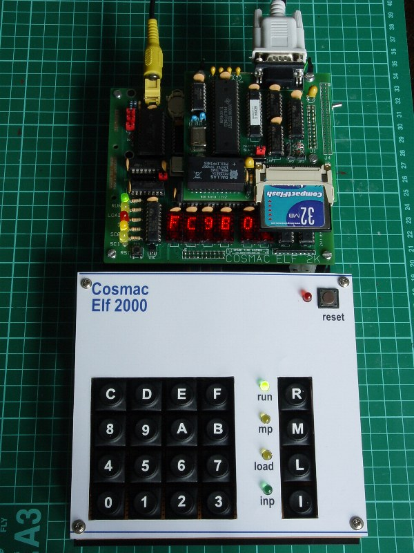 ELF2K with CF board & HEX keypad | ELF2K has swapped its ret