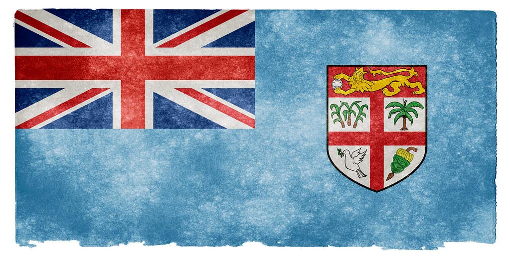 Fiji Grunge Flag Grunge Textured Flag Of Fiji On Vintage P