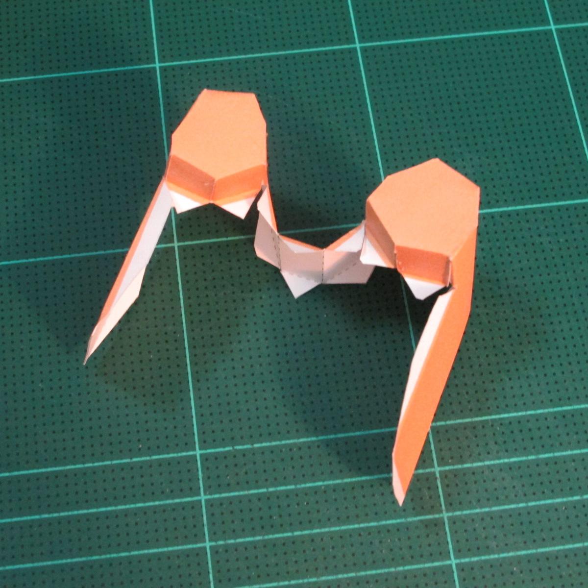 วิธีทำโมเดลกระดาษตุ้กตาคุกกี้รัน คุกกี้ผู้กล้าหาญ แบบที่ 2 (LINE Cookie Run Brave Cookie Papercraft Model Version 2) 009