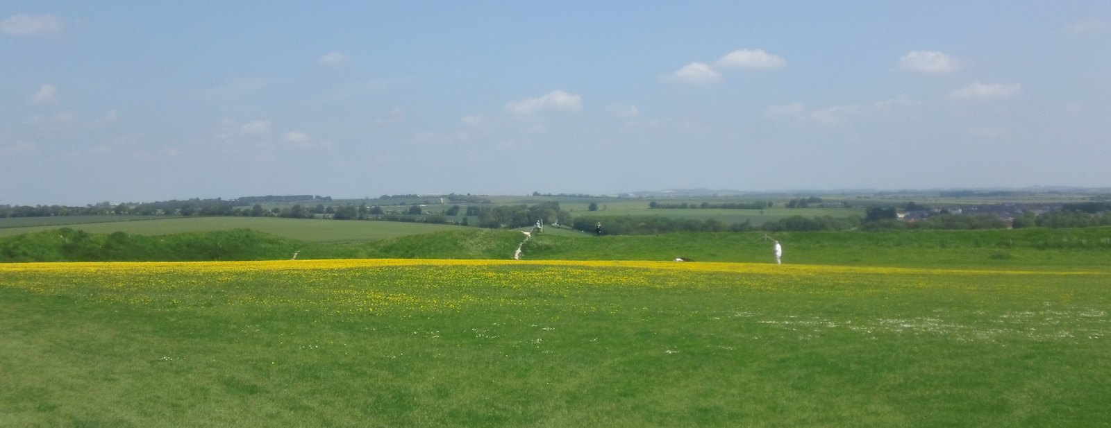 view from Old Sarum towards Beacon Hill Salisbury Plain