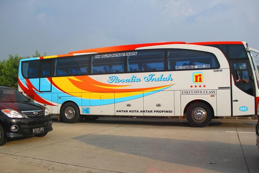 Rosalia Indah Jetbus Hd Livery Firefox Mercedes Benz Oh 16