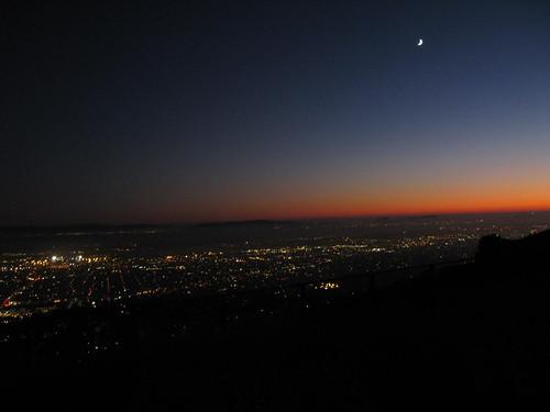 sunset moon oakland bay sanfranciscobay july4th eastbayhills