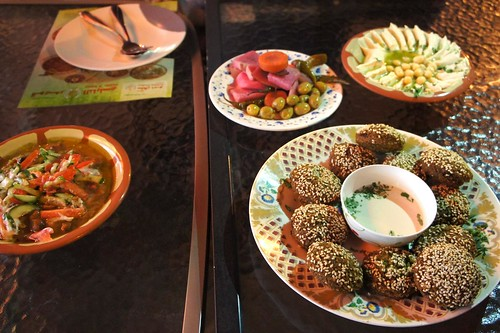 Sultan Dubai Falafel and Qwaider Al Nabulsi dishes | by andreakw