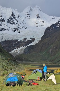 Camping at Incahuain. Above the usual campsite, to try and put as much distance as possible between us and an 'Enjoy Huayhuash' group. | by Pikes On Bikes