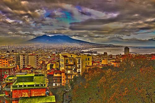 italy panorama landscape view napoli naples vesuvio architettura città santacroce metropoli vulcani stilidivita