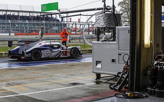 Toyota Passing Pits at Silverstone