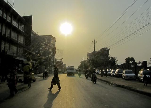 The road at sundown