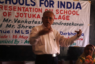 Mr M B Verma, Former Project Director NAL giving the overview of the Jotuka School project | by Schoolsforindia