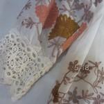 518019(丝棉绣花中袖上衣 2 4 6 白色-橙黄色-绿色   胸92 长68 (3)