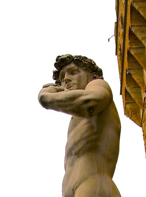 DAVID BY MICHELANGELO,  Piazza della Signoria, Florence, Italy.