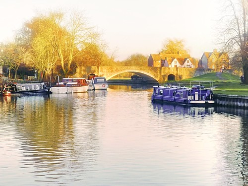 landscape serene water thames bridge winter river misty