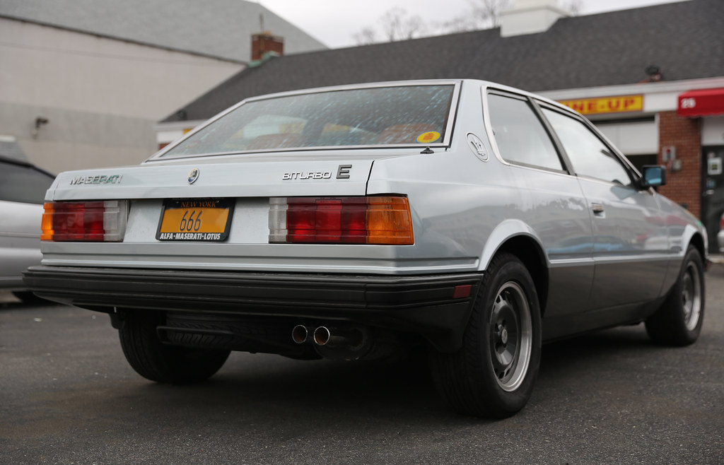 1985 Maserati Biturbo E   I love this car from the rear. One…   Flickr