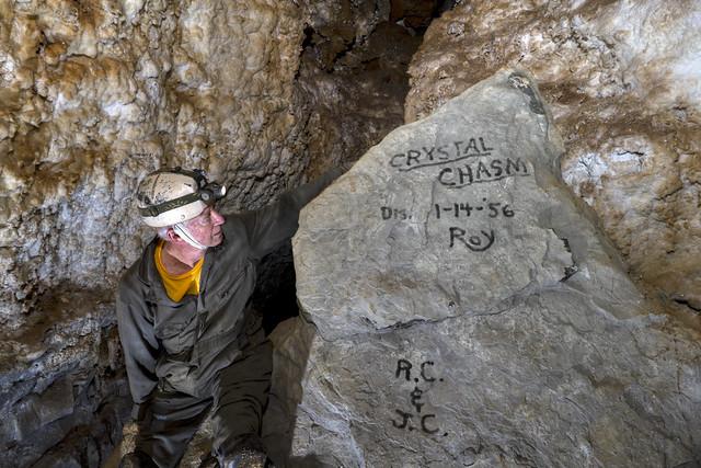Bill Walter, Crystal Chasm, Cumberland Caverns, Warren County, Tennessee 1