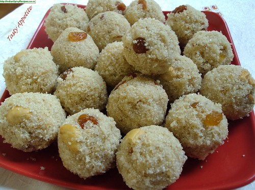 Indian Spicy Recipes - Rava Ladoo | by Forward2Friends