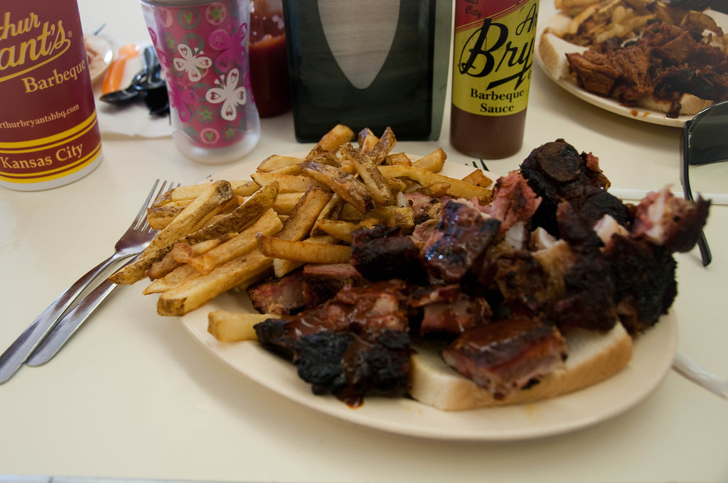 My lunch: rib tips | After waiting in line for an hour