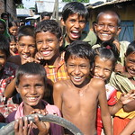 Happy kids in Haji Camp settlement, Chittagong