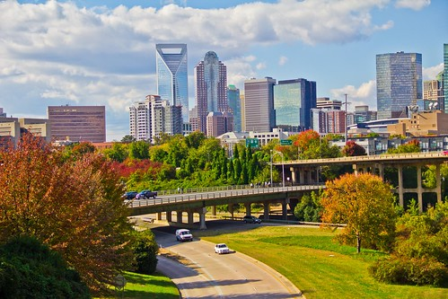 skyline canon landscape nc downtown day cloudy charlotte north uptown carolina dslr t2i