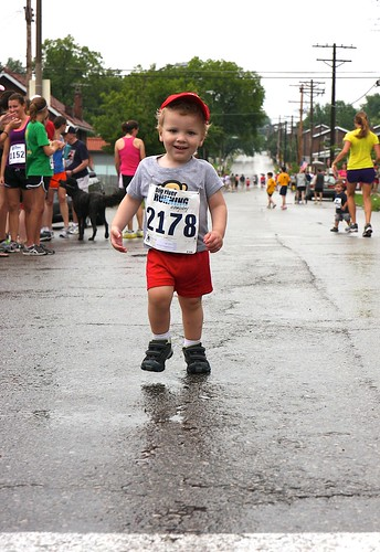 Will approaching finish line of Kid's 1/4 mile dash | by ragfield