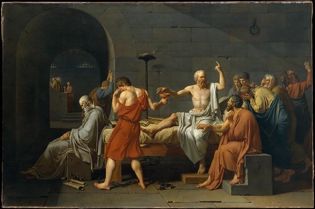 Jacques-Louis David, <i>La Mort de Socrate</i>