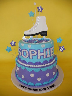 Sophie's Ice Skating Birthday Cake | by CakesUniqueByAmy.com