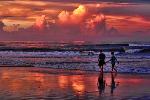 ocean family sunset people beach water colors kids florida ☆thepowerofnow☆