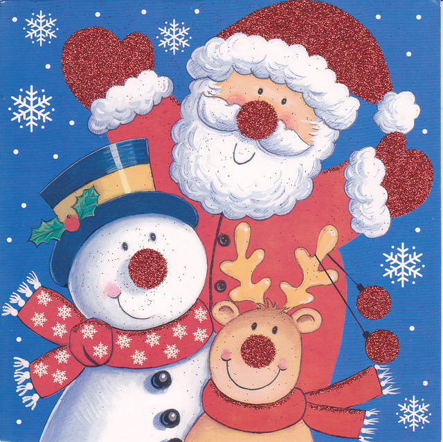 Red Glitter Christmas Card
