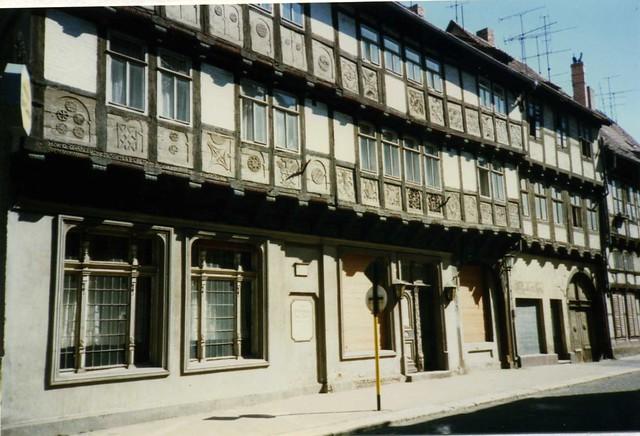 Gildehaus zur Rose, 1612 AD. Breite Straße 39 , Quedlinburg Harz DDR May 1990