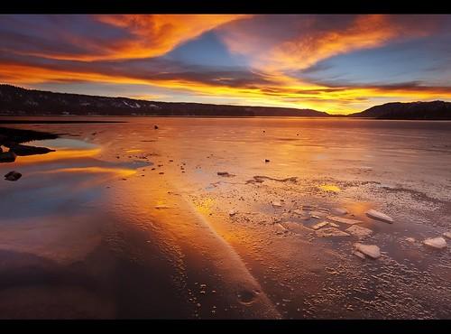 california winter light sunset lake snow reflection ice clouds rocks storms bigbearlake rainboots 1740mml galenrowell singhrayfilter 5dmarkii canon5dmarkii 3stophardedgegnd