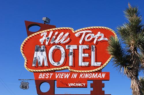 arizona sign vintage route66 az kingman kingmanarizona hilltopmotel bestviewinkingman
