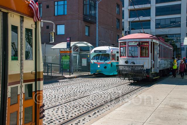 San Francisco Cars 1075, 1076 and 1