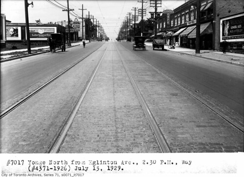 Yonge, north from Eglinton Ave | by Toronto History