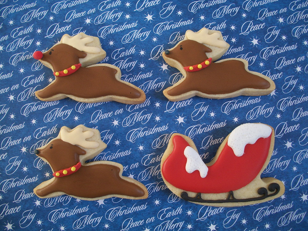 Santa S Sleigh Still Working On Cookies For The Grandkids Flickr