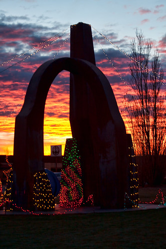 park christmas sunset red orange newmexico ice fire lights sillhouette grants fireandicepark