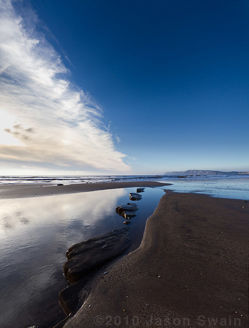 Compton Bay 'After the snow has gone' Monday Vertorama Blues