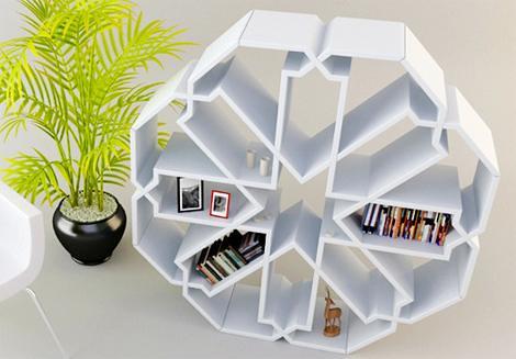 Younes Duret Octagonal bookshelf