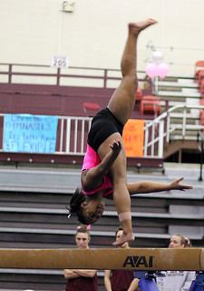 TWU Gymnastics Beam - Rashonda Cannie | by Erin Costa