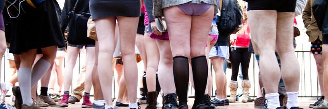 No Pants Subway Ride, SF 2011: it wasn't terribly warm outside