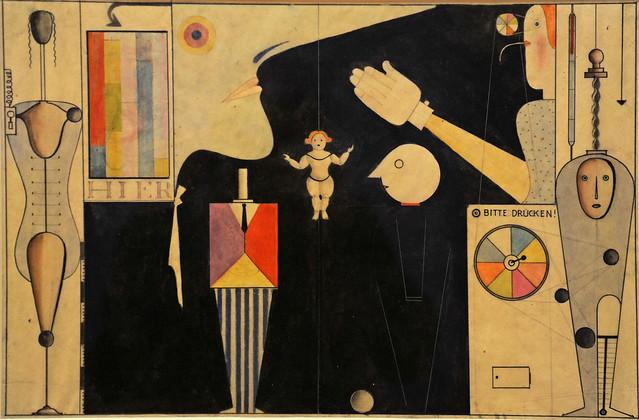 Oskar Schlemmer. The Figural Cabinet (Das figurale Kabinett). (1922). MoMA, NYC